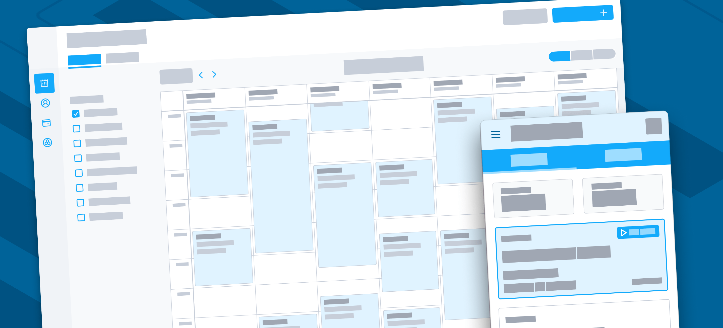 Wireframes for Office & Technician Apps
